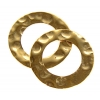 Gold-filled 14kt Connector Circle Flat Hammered 15mm